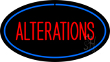 Oval Red Alteration Blue Border Neon Sign