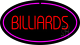Red Billiards Purple Oval Neon Sign