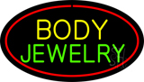 Body Jewelry Oval Red Neon Sign