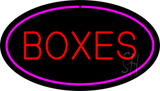 Boxes Oval Purple LED Neon Sign