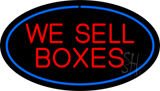 We Sell Boxes Oval Blue LED Neon Sign