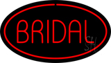Bridal Block Oval Red Neon Sign