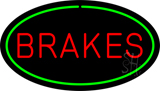 Brakes Green Oval LED Neon Sign