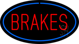 Red Brakes Blue Oval LED Neon Sign