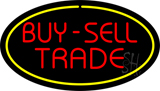 Buy Sell Trade Oval Yellow LED Neon Sign