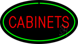 Cabinets Oval Green LED Neon Sign
