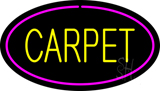 Yellow Carpet Oval Pink Border LED Neon Sign