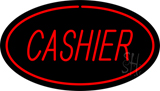 Cashier Oval Red LED Neon Sign