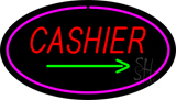 Cashier Oval Pink LED Neon Sign