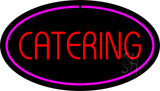 Catering Oval Purple LED Neon Sign