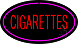 Red Cigarettes Pink Oval LED Neon Sign