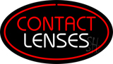Contact Lenses Oval Red LED Neon Sign