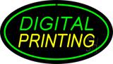 Digital Printing Oval Green LED Neon Sign