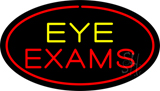 Eye Exams Oval Red LED Neon Sign