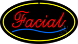Red Facial Yellow Oval Border LED Neon Sign