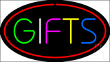 Gifts Oval Red Neon Sign