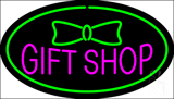 Gift Shop Oval Green LED Neon Sign
