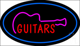 Guitars Oval Blue LED Neon Sign
