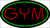 GYM Oval Green LED Neon Sign