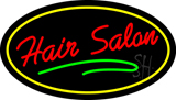 Hair Salon Oval Red LED Neon Sign