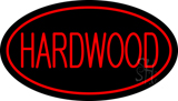Hardwood Oval Red LED Neon Sign