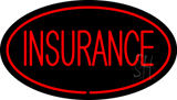 Insurance Oval Red LED Neon Sign