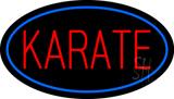 Karate Oval Blue LED Neon Sign