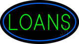 Loans Oval Blue LED Neon Sign