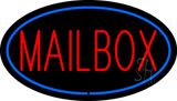 Mailbox Oval Blue LED Neon Sign