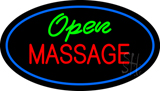 Green Open Red Massage Oval Blue LED Neon Sign