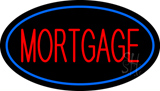 Mortgage Oval Blue LED Neon Sign
