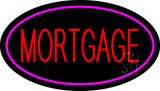 Mortgage Oval Pink Border LED Neon Sign