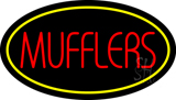 Mufflers Yellow Oval LED Neon Sign