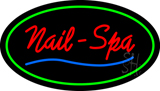 Oval Nails-Spa Green LED Neon Sign