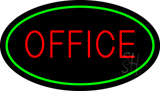 Office Oval Green LED Neon Sign