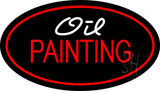 Oil Painting Red Oval LED Neon Sign