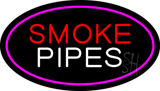 Smoke Pipes Pink Oval LED Neon Sign