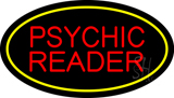 Psychic Reader Yellow Oval LED Neon Sign