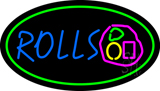 Rolls Oval Green LED Neon Sign