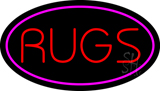 Rugs Oval Purple LED Neon Sign