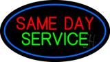 Same Day Service Oval Blue Border LED Neon Sign