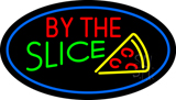 By the Slice Oval Blue LED Neon Sign