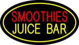 Smoothies Juice Bar Oval Yellow LED Neon Sign