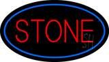 Stone Oval Blue LED Neon Sign