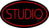 Red Studio Oval LED Neon Sign
