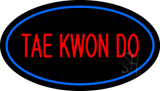 Tae Kwon Do Oval Blue LED Neon Sign