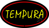 Tempura Oval Red LED Neon Sign