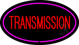 Red Transmission Purple Oval LED Neon Sign