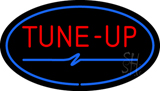 Tune-Up Blue Oval LED Neon Sign
