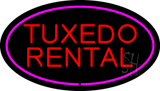 Tuxedo Rental Oval Purple LED Neon Sign